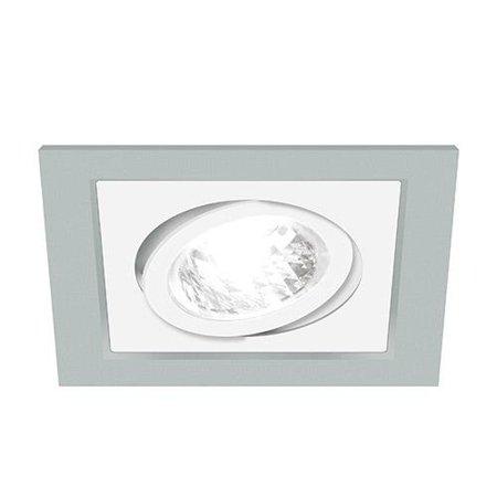 Bodové Stropní svítidlo BORYS D, hranatá, 1 x GU10, stříbrná/bílá, 3219, Struhm