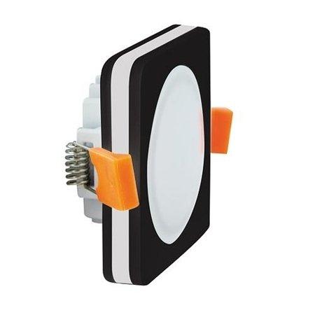 Bodové Stropní svítidlo GOTI LED D, 5W, 4000K, černá, hranatá, 3200, Struhm