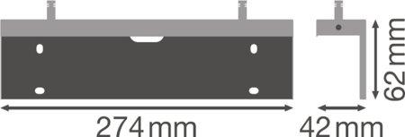 Držák pro montáž svítidla pro nouzový východ Wall Bracket EMERGENCY EXIT SIGN HB 27M LEDVANCE