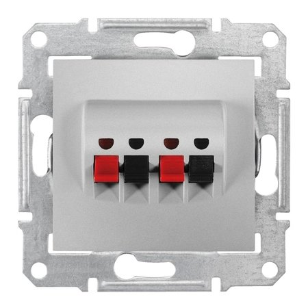 Dvojitá reproduktorová zásuvka hliník Sedna SDN5400160 Schneider Electric