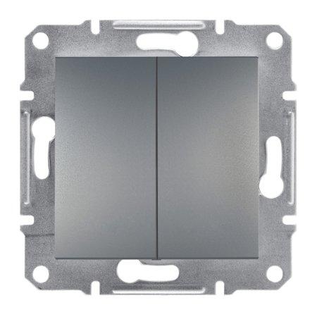Dvojité tlačítko bez rámečku, ocel Schneider Electric Asfora EPH1100162