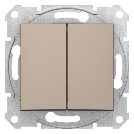 Dvojitý vypínač schodišťový saténová Sedna SDN0600168 Schneider Electric