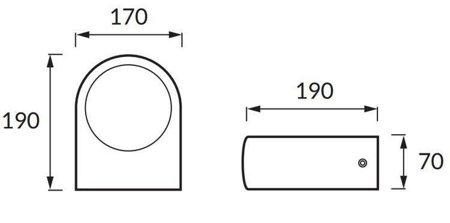 Hermetické svítidlo dvousměrná LIMO E27 šedá STRUHM