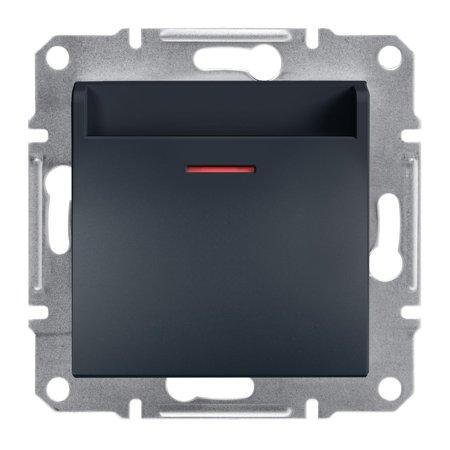 Hotelový vypínač (mechanický) bez rámečku, antracit Schneider Electric Asfora EPH6200171