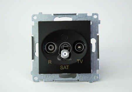 Kontakt Simon 54 Premium Antracit Anténní zásuvka R-TV-SAT koncová/uzavírací (modul), DASK.01/48