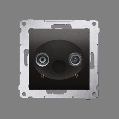 Kontakt Simon 54 Premium Antracit Anténní zásuvka R-TV koncová oddělená (modul), DAK.01/48