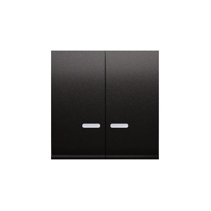 Kontakt Simon 54 Premium Antracit Klávesy s čočkou pro vypínače/Dvojnásobná klávesa s podsvícením, DKW5L/48