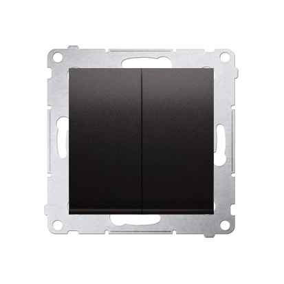 Kontakt Simon 54 Premium Antracit Přepínač sériový (modul) X šroubové koncovky, DW5A.01/48