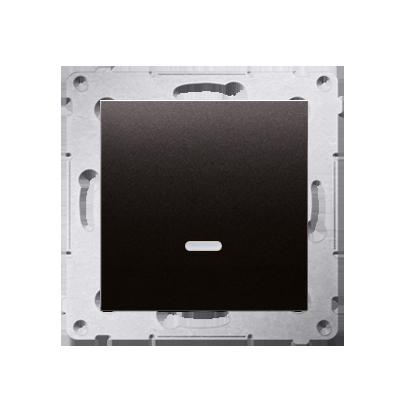 Kontakt Simon 54 Premium Antracit Tlačítko jednopólové zkratovací s podsvícením LED bez pikt. rychlospojka, DP1L.01/48