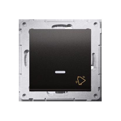 """Kontakt Simon 54 Premium Antracit Tlačítko """"zvonek"""" s podsvícením LED rychlospojka, DD1L.01/48"""