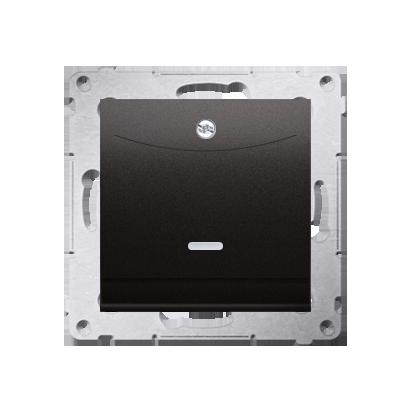 Kontakt Simon 54 Premium Antracit Vypínač hotelový dvojnásobný -2Z s podsvícením. Jmenovitý proud 10 (2) A . DWH2.01/48