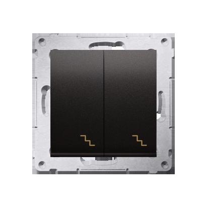 Kontakt Simon 54 Premium Antracit Vypínač schodišťový dvojnásobný s podsvícením (modul) šroubové koncovky, DW6/2L.01/48