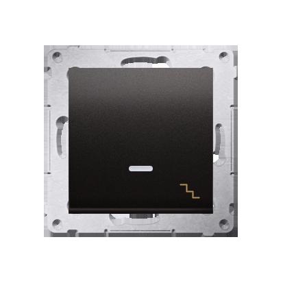 Kontakt Simon 54 Premium Antracit Vypínač schodišťový s podsvícením LED (modul) X šroubové koncovky, DW6AL.01/48