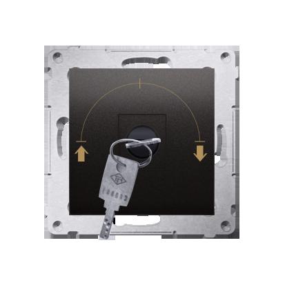 Kontakt Simon 54 Premium Antracit Vypínač žaluzii na klíč 1-běh.(modul) 3 polohový I-0-II 2 spínače N/O, 5A, 250~