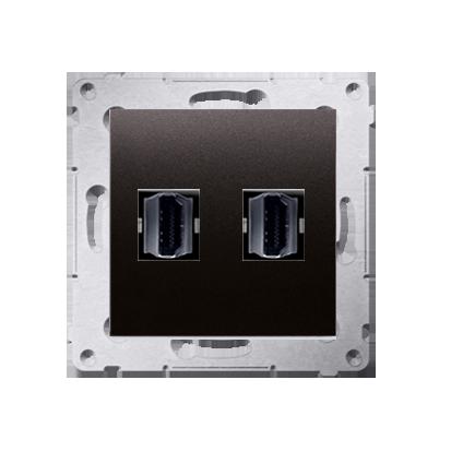 Kontakt Simon 54 Premium Antracit Zásuvka HDMI dvojitá (modul), DGHDMI2.01/48