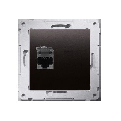 Kontakt Simon 54 Premium Antracit Zásuvka počítačová jednonásobná RJ45 kat. 6, stíněné se zaklapávací krytkou D61E.01/48