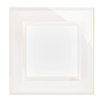 Kontakt Simon 54 Premium Bílá Perla - sklo Rámeček 1-násobný Nature DRN1/70