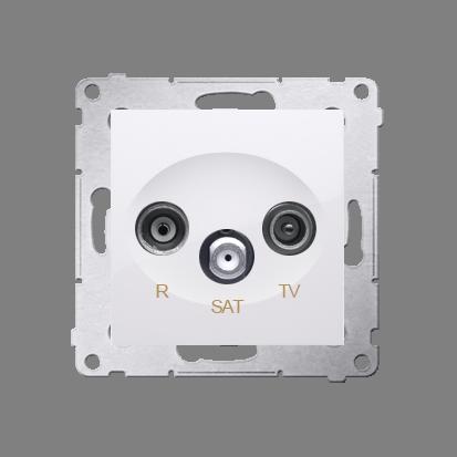 Kontakt Simon 54 Premium Bílý Anténní zásuvka R-TV-SAT koncová/uzavírací (modul), DASK.01/11