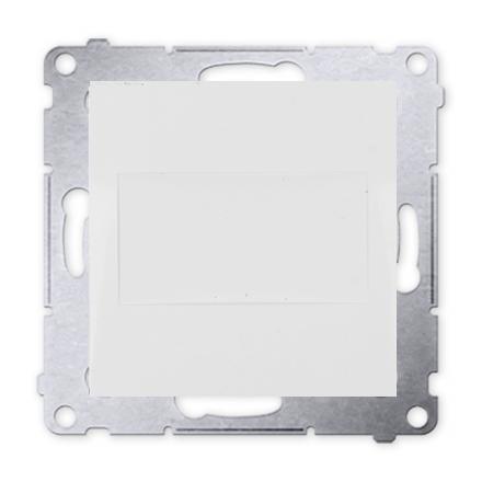 Kontakt Simon 54 Premium Bílý Clona rámečku (modul). pomocí drápků nebo šroubů, DPS.01/11