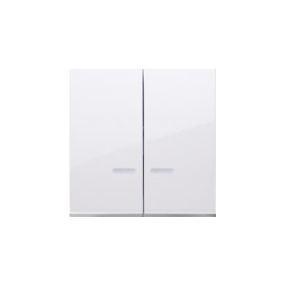 Kontakt Simon 54 Premium Bílý Klávesy s čočkou pro vypínače/Dvojnásobná klávesa s podsvícením, DKW5L/11