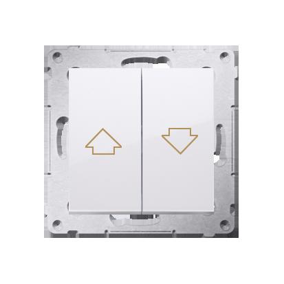 Kontakt Simon 54 Premium Bílý Tlačítko ovládání žaluzií z více míst, šroubové koncovky, DZP1W.01/11