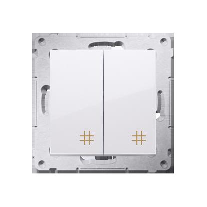 Kontakt Simon 54 Premium Bílý Vypínač křížový dvojnásobný 2 klávesy (modul) ~, DW7/2.01/11