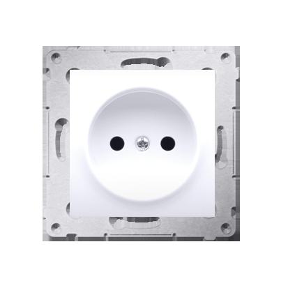 Kontakt Simon 54 Premium Bílý Zásuvka bez uzemnění s clonou šroubové koncovky, DG1Z.01/11