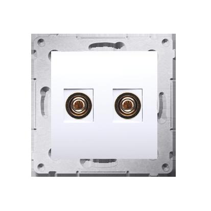Kontakt Simon 54 Premium Bílý Zásuvka reproduktoru jednonásobná (modul) DGL2.01/11