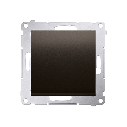 Kontakt Simon 54 Premium Hnědá, matné Tlačítko jednopólové zkratovací bez piktogramu rychlospojka, DP1.01/46
