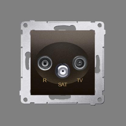 Kontakt Simon 54 Premium Hnědá, matný Anténní zásuvka R-TV-SAT průběžná (modul), DASP.01/46