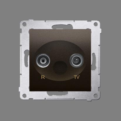 Kontakt Simon 54 Premium Hnědá, matný Anténní zásuvka R-TV koncová oddělená (modul), DAK.01/46
