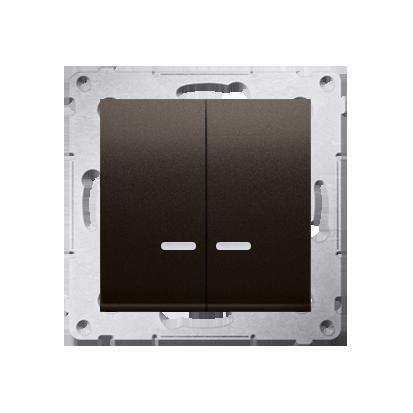 Kontakt Simon 54 Premium Hnědá, matný Přepínač sériový s podsvícením LED, pro verzi IP44 DW5ABL.01/46