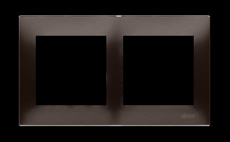 Kontakt Simon 54 Premium Hnědá, matný Rámeček 2-násobný univerzální IP20/IP44, DR2/46