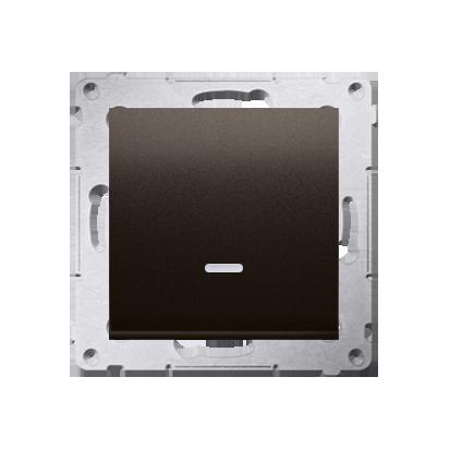 Kontakt Simon 54 Premium Hnědá, matný Vypínač jednonásobný s podsvícením LED (modul) rychlospojka, DW1L.01/46