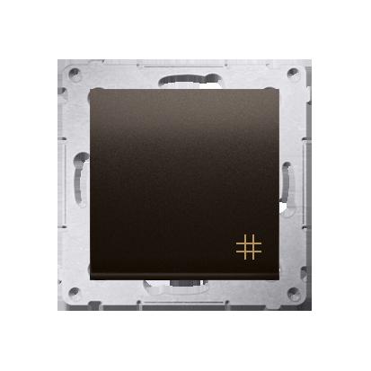 Kontakt Simon 54 Premium Hnědá, matný Vypínač křížový (modul) rychlospojka, DW7.01/46