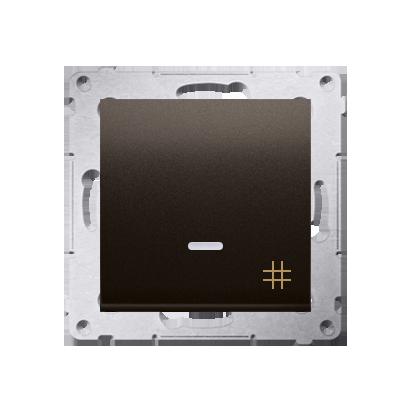 Kontakt Simon 54 Premium Hnědá, matný Vypínač křížový s podsvícením LED (modul) rychlospojka, DW7L.01/46