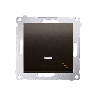 Kontakt Simon 54 Premium Hnědá, matný Vypínač schodišťový s podsvícením LED (modul) rychlospojka, DW6L.01/46