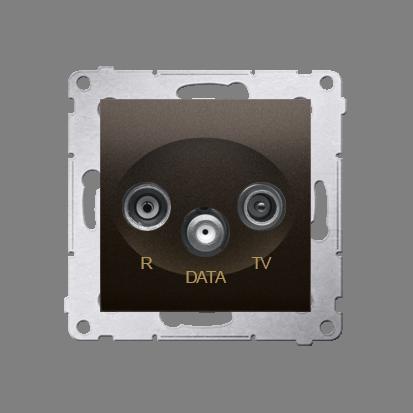 Kontakt Simon 54 Premium Hnědá, matný Zásuvka R-TV-DATA (modul), DAD.01/46