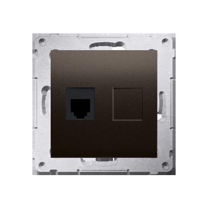 Kontakt Simon 54 Premium Hnědá, matný Zásuvka telefónní jednonásobná RJ12 (modul), DT1.01/46