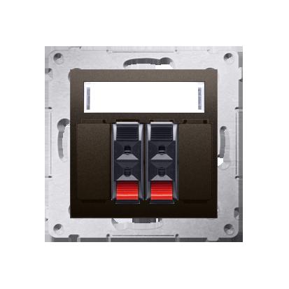 Kontakt Simon 54 Premium Hnědá, matný reproduktorová zásuvka 2-násobná s popisovým polem (modul) DGL32.01/46