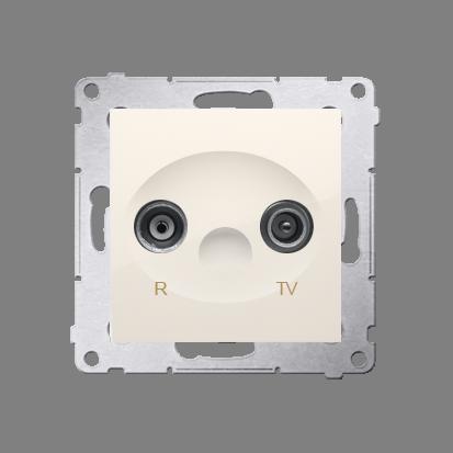 Kontakt Simon 54 Premium Krémová Anténní zásuvka R-TV koncová oddělená (modul), DAK.01/41