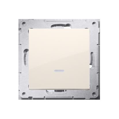 Kontakt Simon 54 Premium Krémová Tlačítko jednopólové zkratovací s podsvícením LED bez pikt. rychlospojka, DP1L.01/41