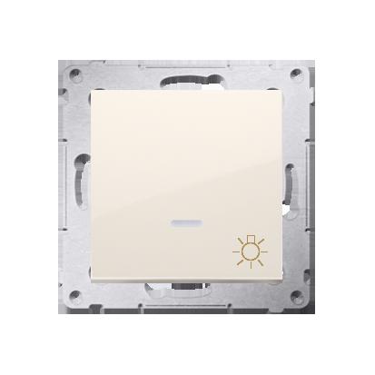 """Kontakt Simon 54 Premium Krémová Tlačítko """"světlo"""" s podsvícením LED rychlospojka, DS1L.01/41"""