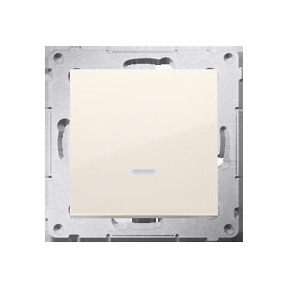 Kontakt Simon 54 Premium Krémová Vypínač jednonásobný se signalizací připojení LED (modul) rychlospojka, DW1ZL.01/41