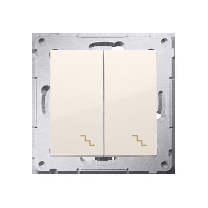 Kontakt Simon 54 Premium Krémová Vypínač schodišťový dvojnásobný (modul) šroubové koncovky, DW6/2.01/41