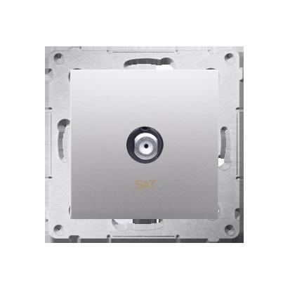 Kontakt Simon 54 Premium Stříbrná Anténní zásuvka SAT jednonásobná (modul) DASF1.01/43