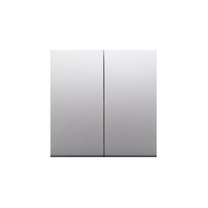 Kontakt Simon 54 Premium Stříbrná Klávesy pro vypínače/Tlačítek dvojnásobných, DKW5/43