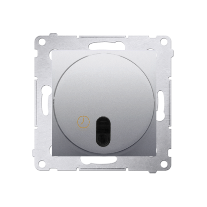 Kontakt Simon 54 Premium Stříbrná Spínač s opožděným vypnutím s relé. (modul) DWC10P.01/43