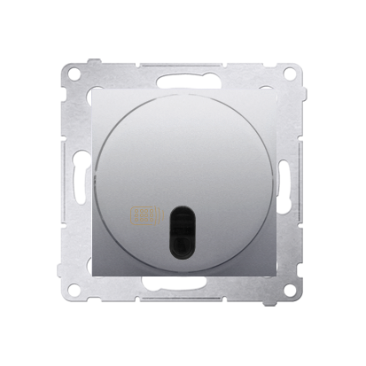 Kontakt Simon 54 Premium Stříbrná Vypínač dálkově ovládaný (modul) 20-500 W, DWP10T.01/43