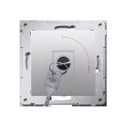 """Kontakt Simon 54 Premium Stříbrná Vypínač na klíč jednonásobný 2 pol. """"0-I"""" spínač N/O vyt. klíče v každé pozici, DW1K.01/43"""